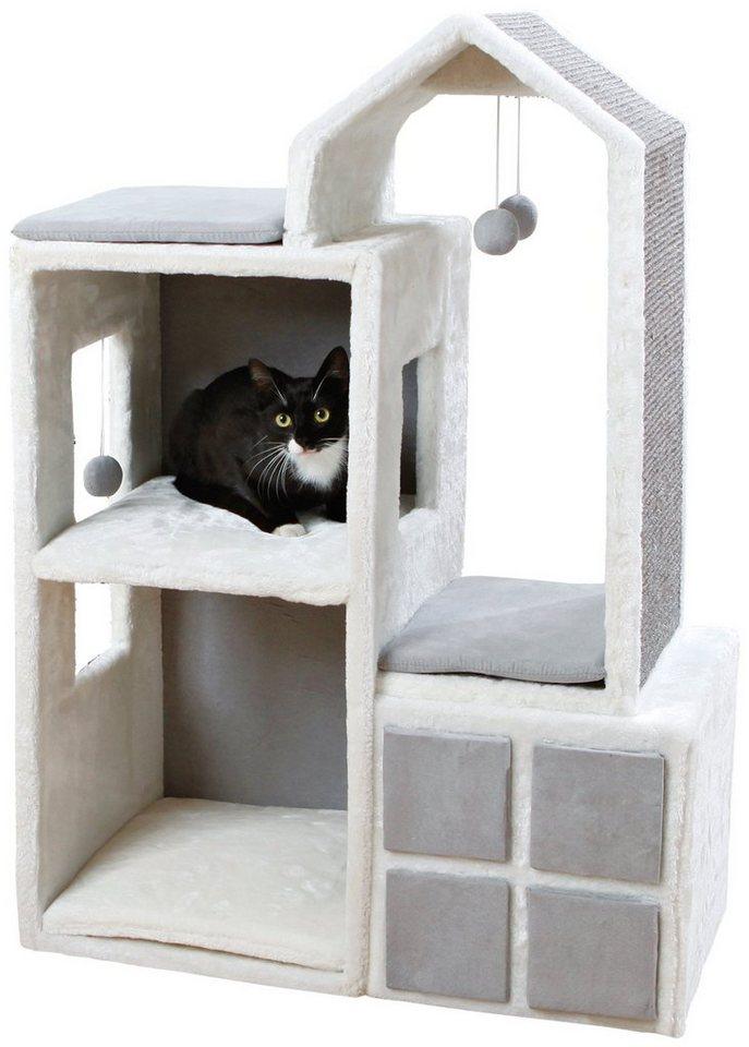 Kratzbaum »Cat Tower Gala«, B/T/H: 73/41/105 cm, weiß/grau in weiß/grau
