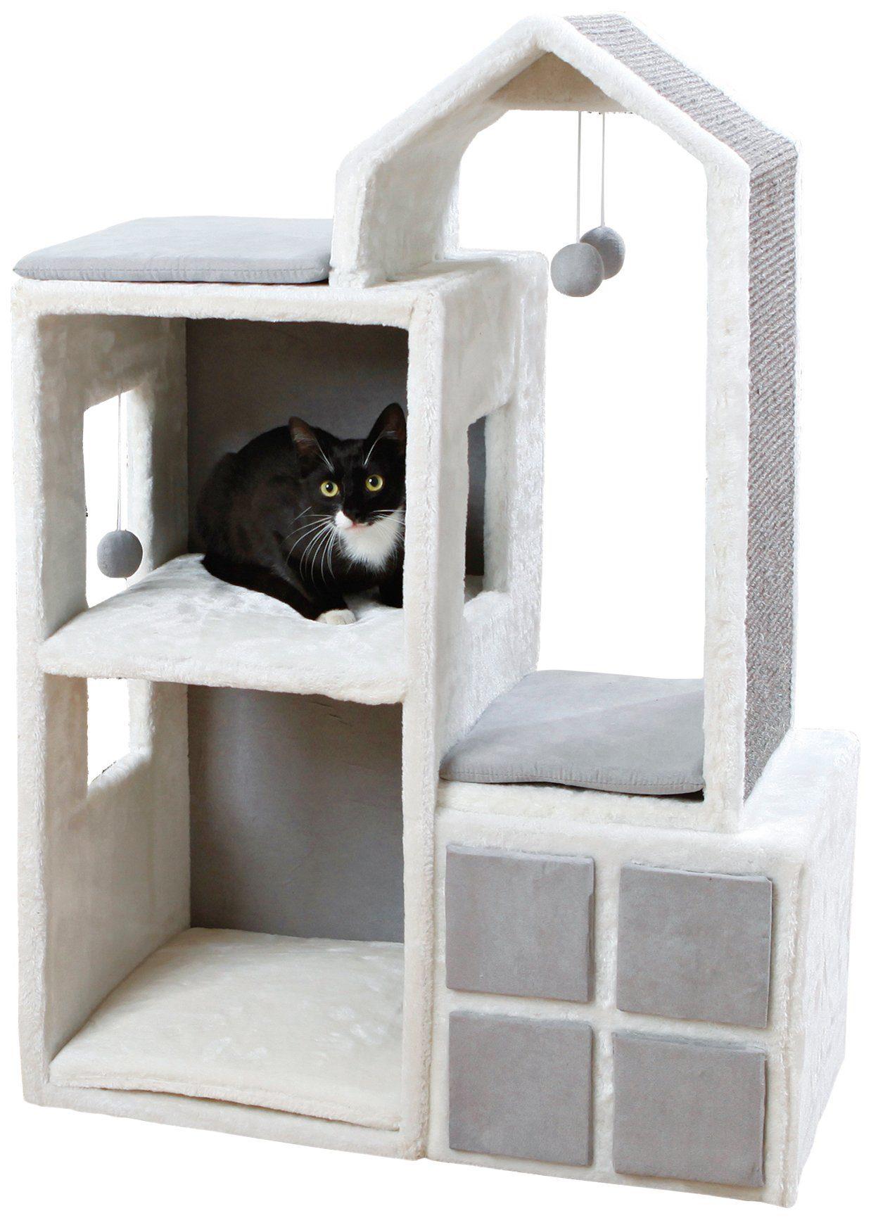 Kratzbaum »Cat Tower Gala«, B/T/H: 73/41/105 cm, weiß/grau