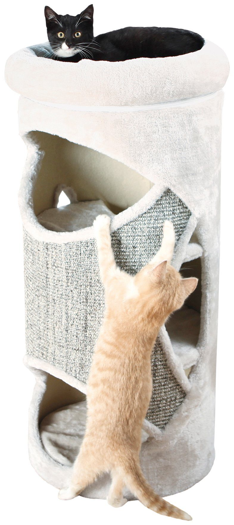 Kratzbaum »Cat Tower Gracia«, B/T/H: 38/38/85 cm, hellgrau