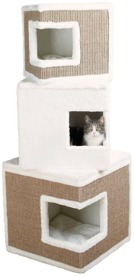 Kratzbaum »Cat Tower Lilo«, B/T/H: 46/46/123 cm, weiß in weiß