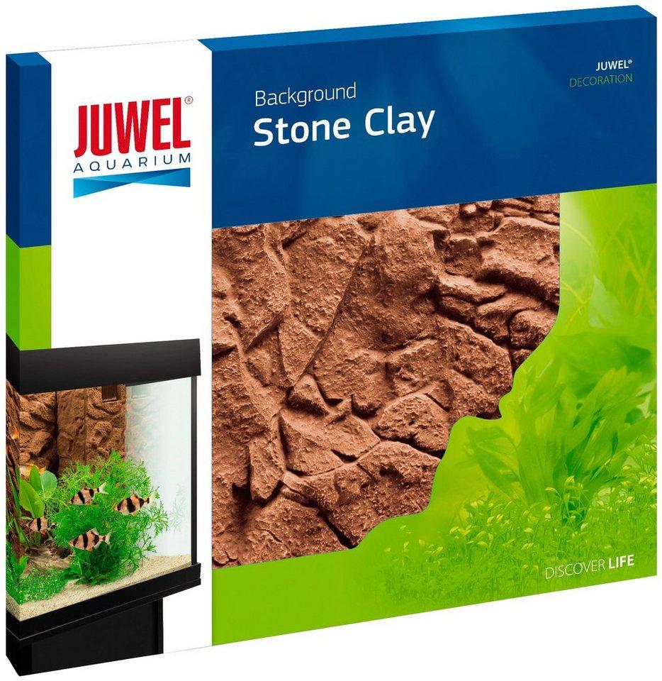 Aquariendeko »Rückwand Stone Clay«, lehmfarben in natur