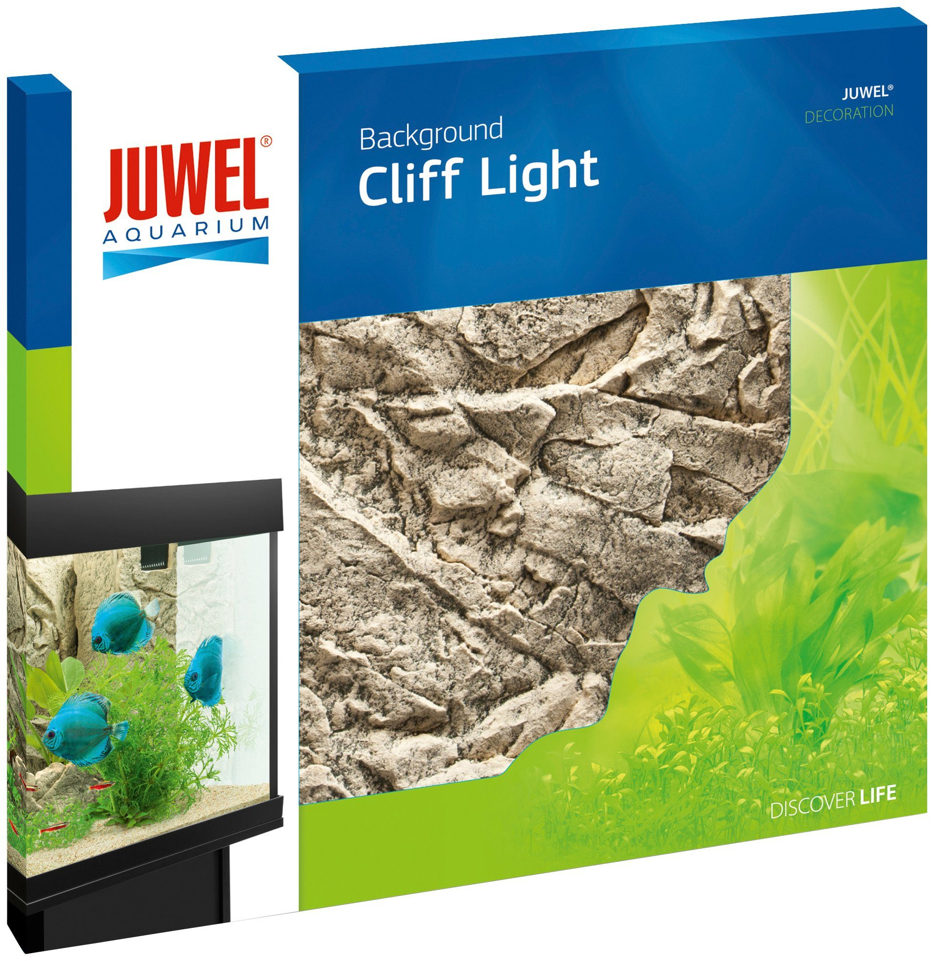 Juwel Aquarium-Rückwand »Cliff Light«, hellgrau