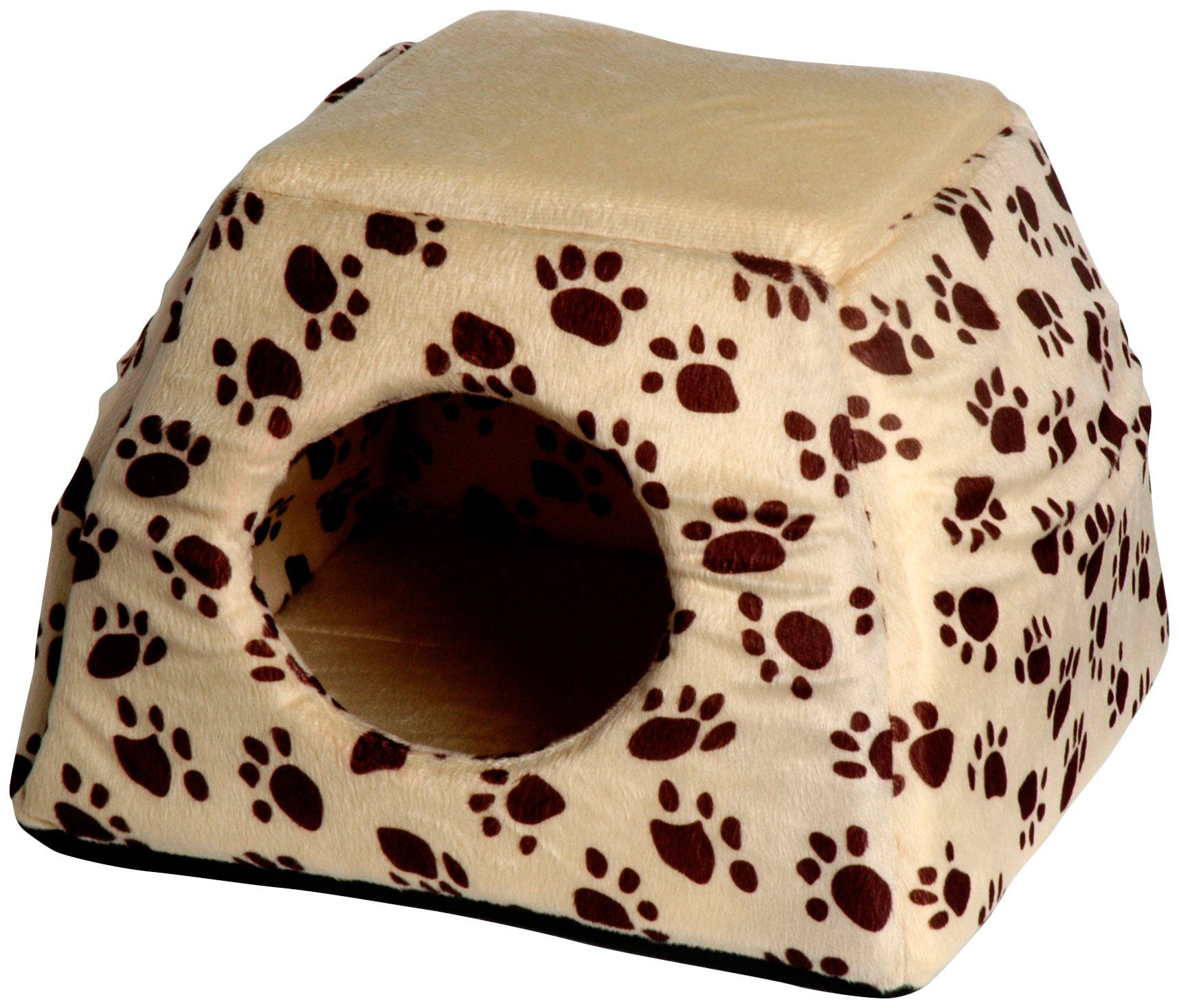 Hundehöhle und Katzenhöhle , B/L/H: 40/40/30 cm, beige/dunkelbraun