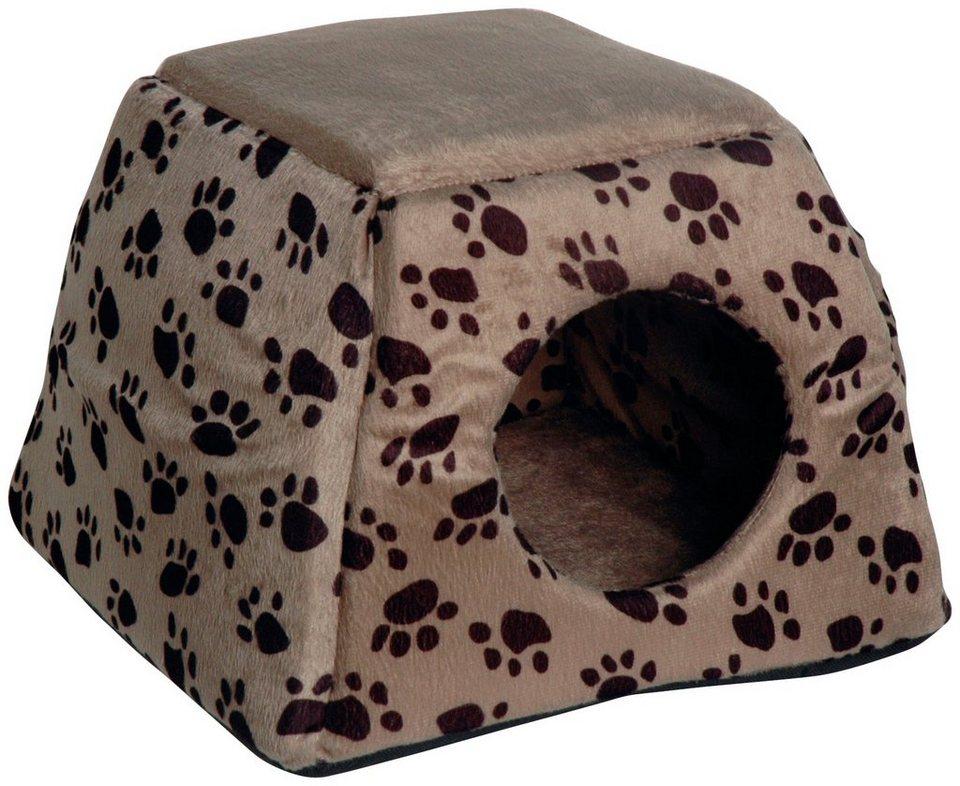 Hundehöhle und Katzenhöhle , B/L/H: 40/40/30 cm, dunkelbraun/grau in dunkelbraun/grau