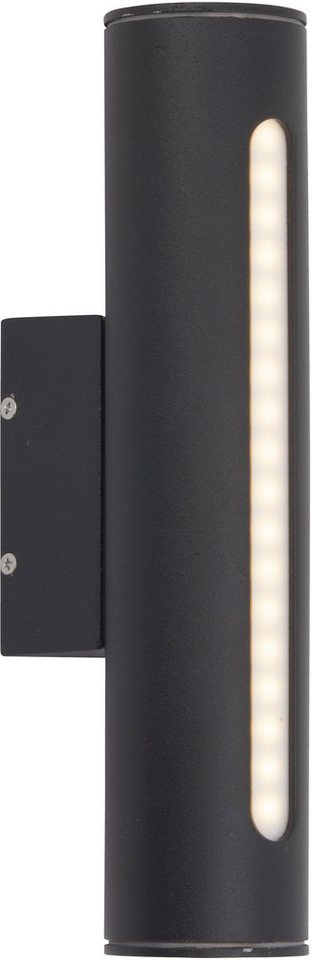Brilliant LED Außenleuchte, 1 flg., Wandleuchte, »TWIN« in Aludruckguss, Kunststoff