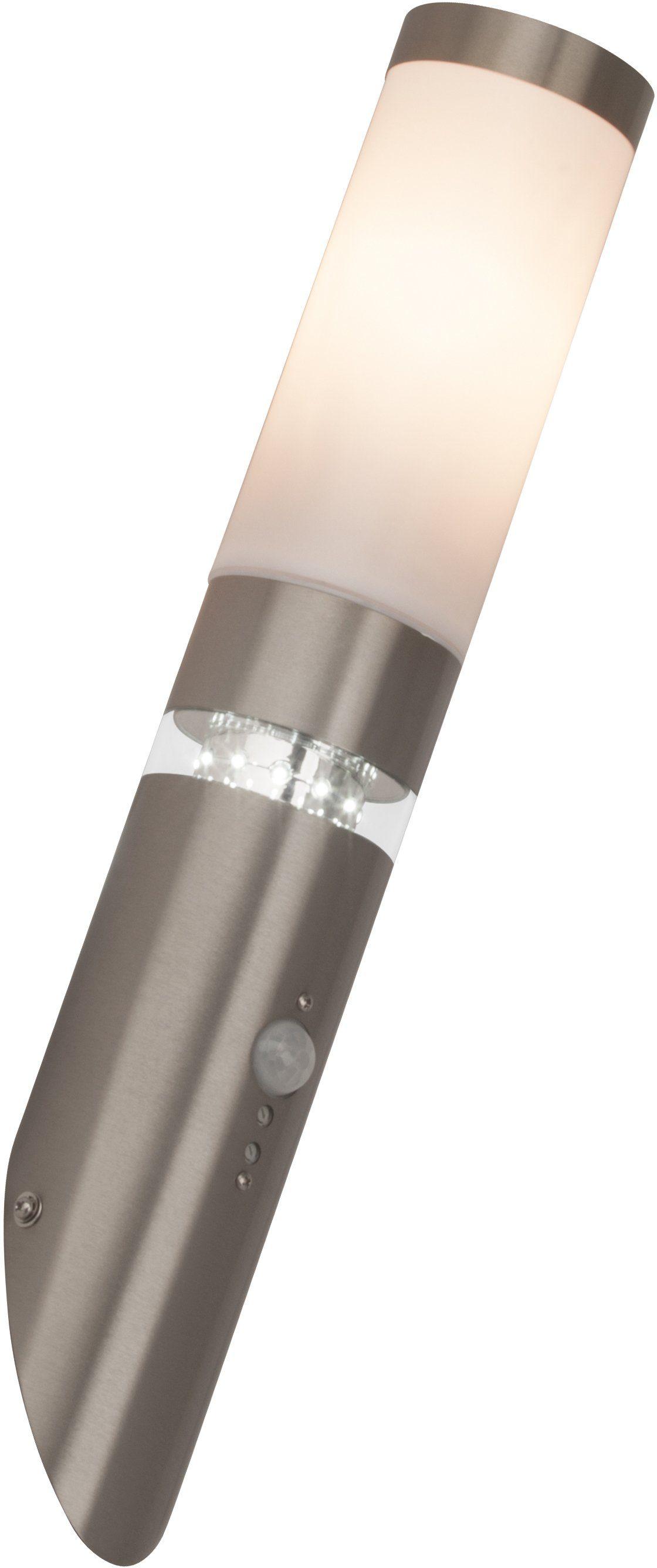 Brilliant Leuchten LED Außen-Wandleuchte »BOLE«, 1-flammig, Erfassungswinkel 120°