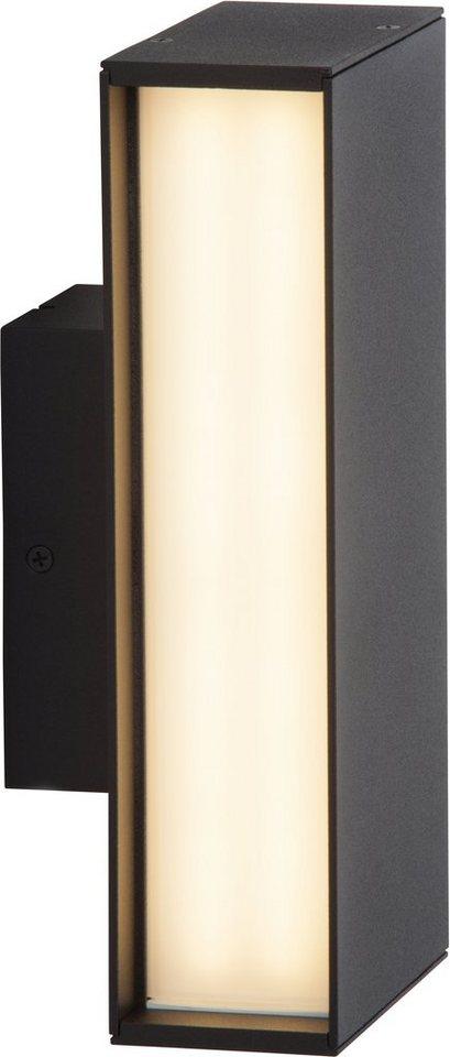 Brilliant LED Außenleuchte, 1 flg., Sockelleuchte, »HOLLOW« in Aludruckguss, Kunststoff