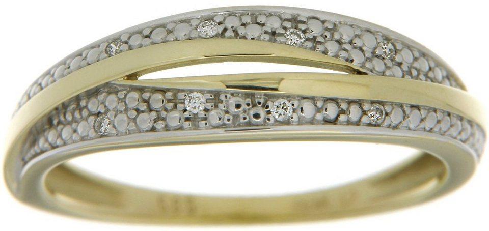 Vivance Jewels Ring mit Brillanten in Gelbgold 333-bicolor