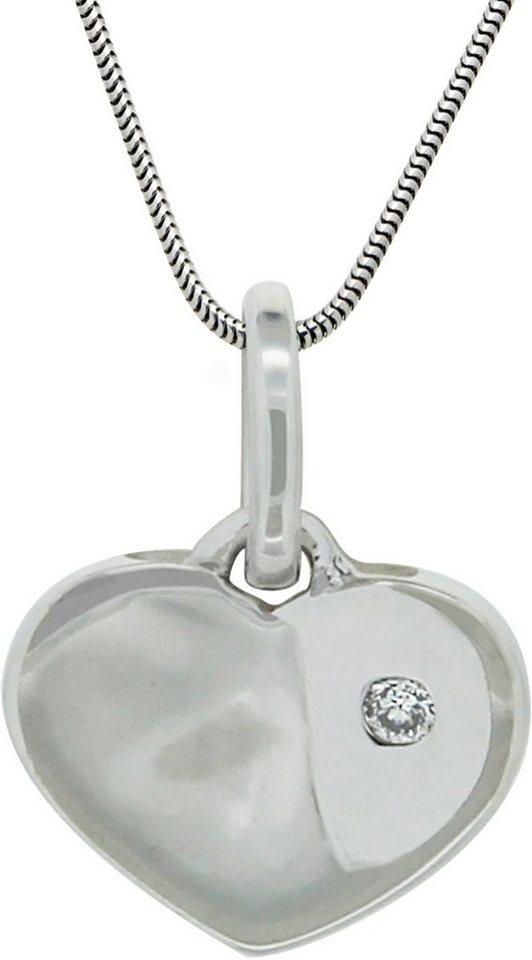Vivance Jewels Anhänger »Herz« mit Brillant in Weißgold 333