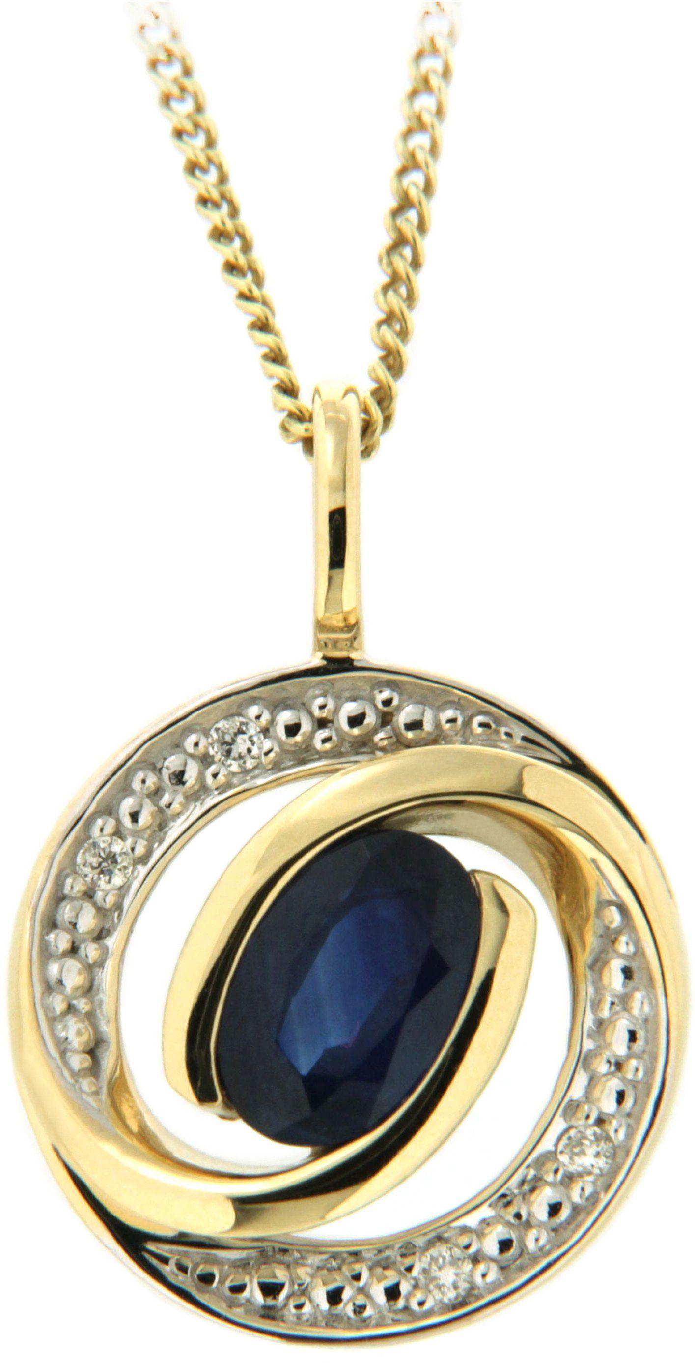 Vivance Jewels Anhänger mit Saphir und Brillanten