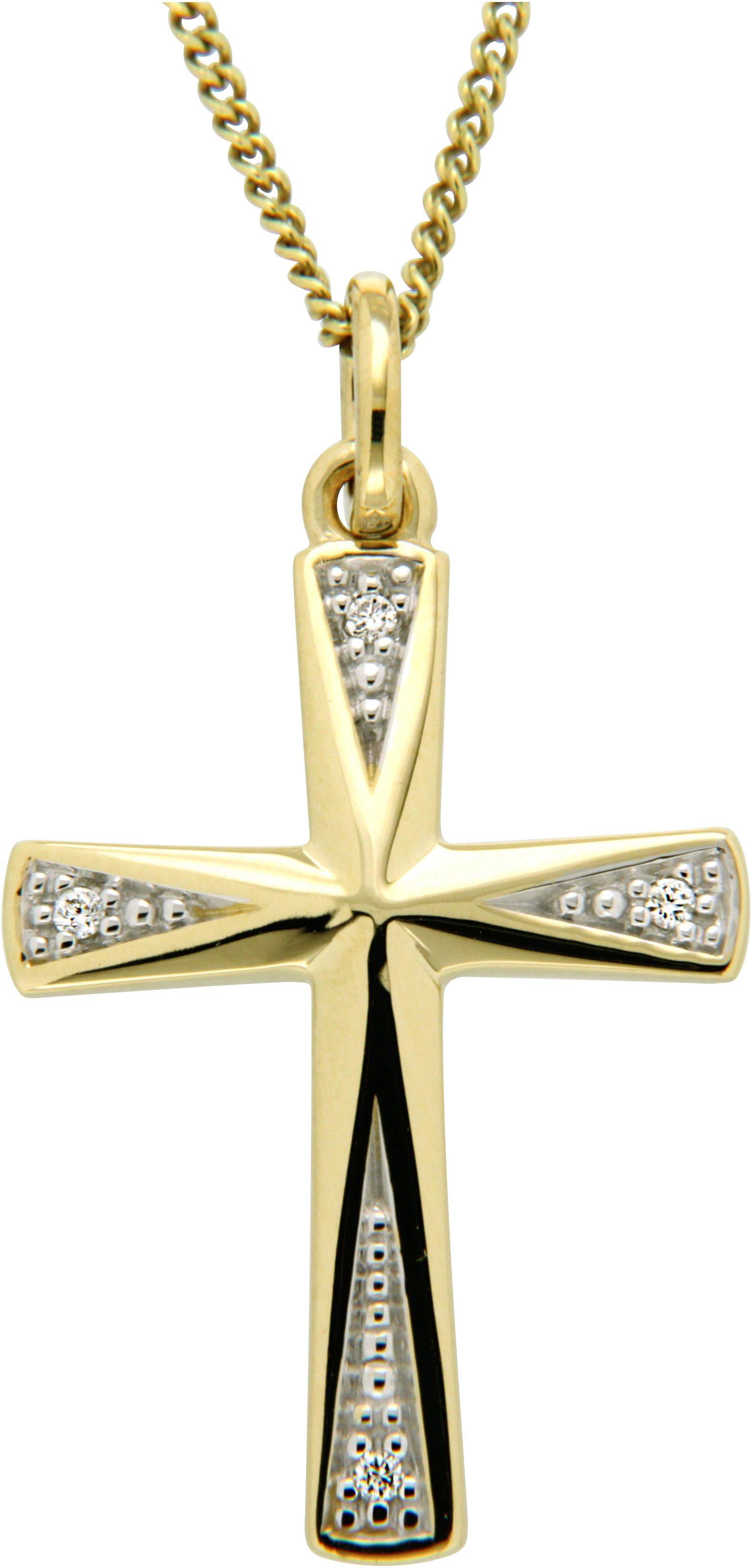 Vivance Jewels Anhänger »Kreuz« mit Brillanten