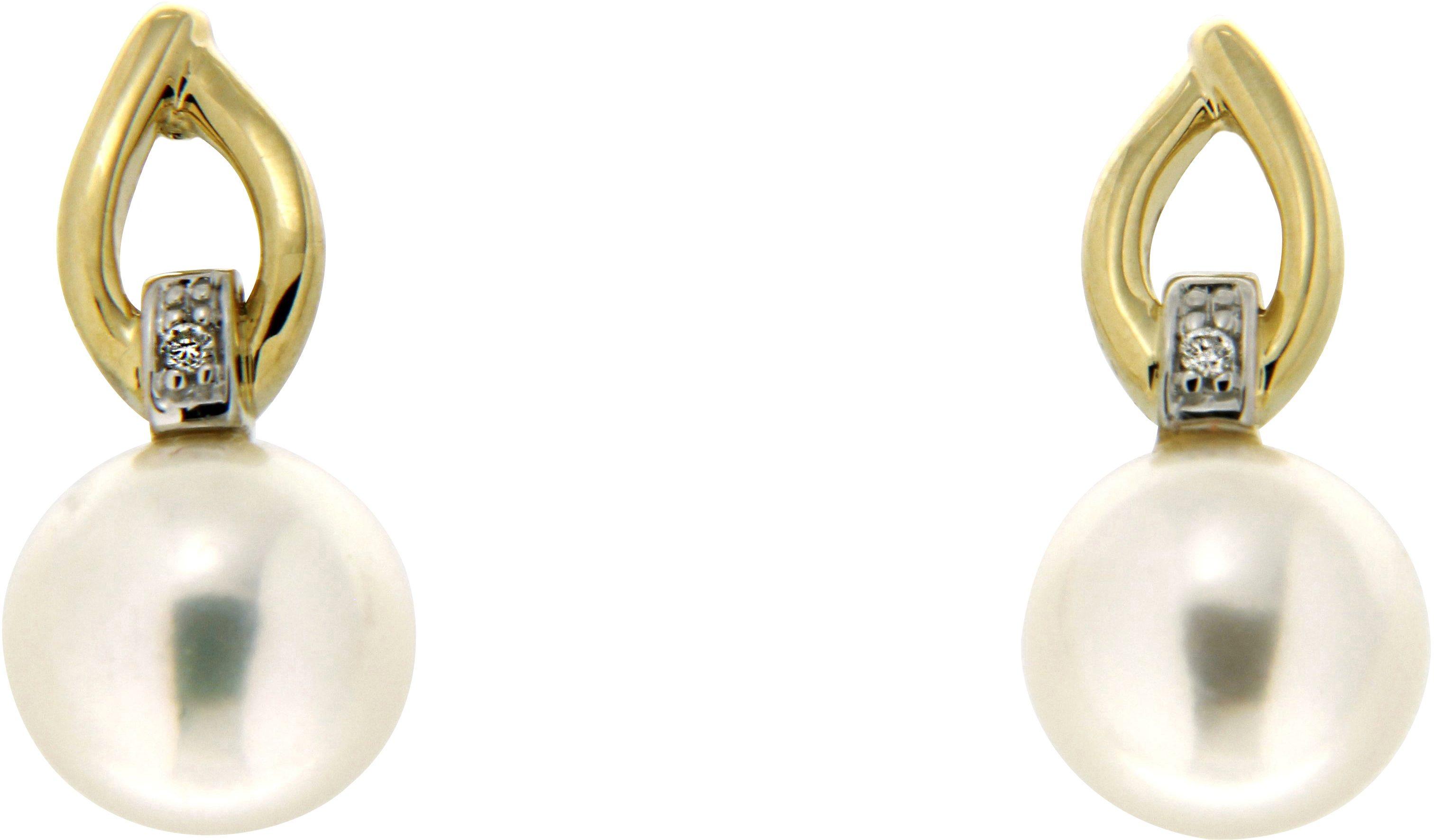 Vivance Jewels Paar Ohrstecker mit Süßwasserzuchtperlen und Brillanten