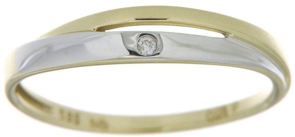 Vivance Jewels Ring mit Brillant in Gelbgold 333-bicolor