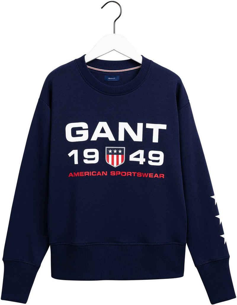 Gant Sweatshirt mit tollem Retro-Shield Logoprint