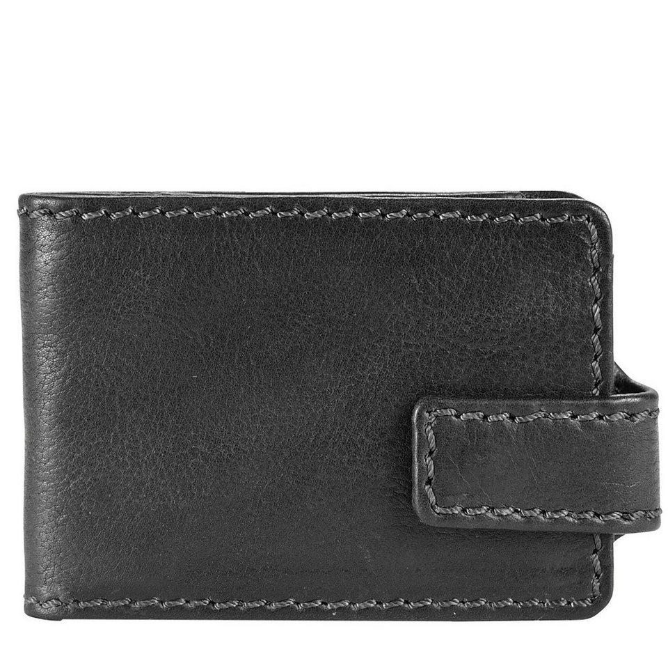 Harold's Saddle Geldbörse Leder 10 cm in schwarz