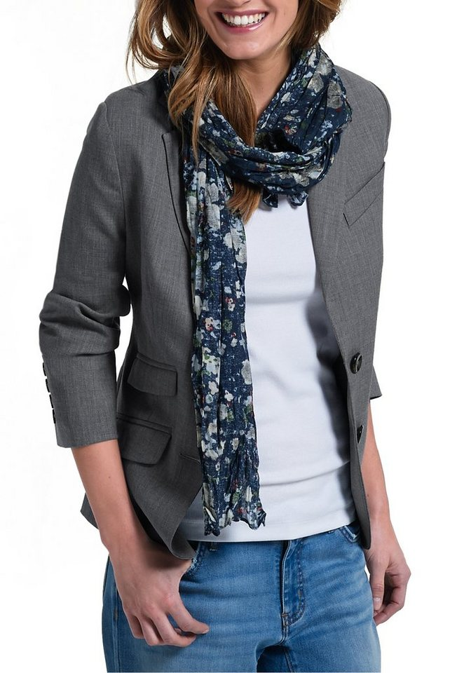 Damen Eddie Bauer Jackenblazer Blazer aus Wolle grau | 04045785595620