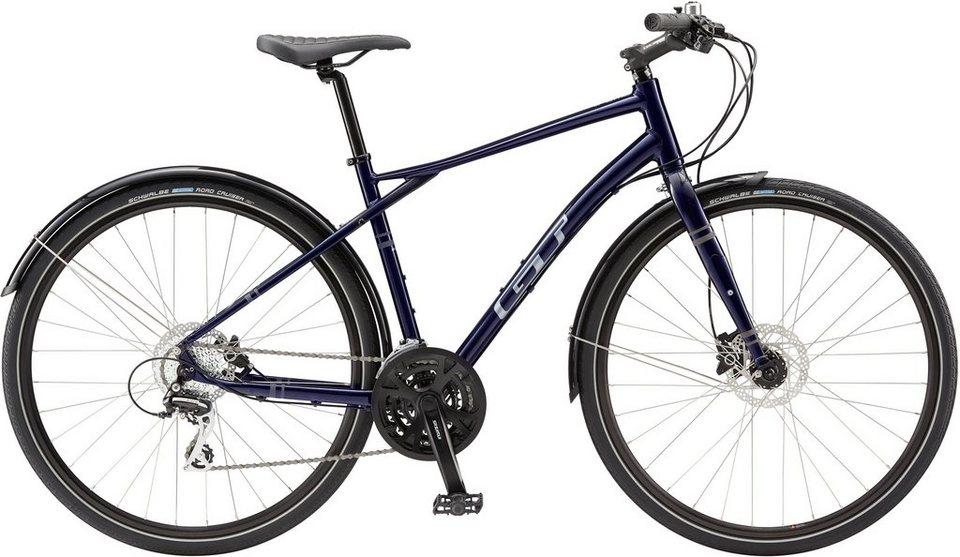 GT Fitnessbike, 28 Zoll, 24 Gang Shimano Acera Schaltung, Herren, »Traffic Elite« in blau