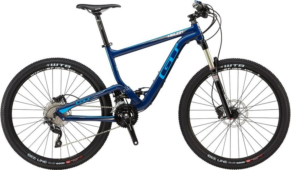 gt fully mountainbike 27 5 zoll 20 gang shimano slx. Black Bedroom Furniture Sets. Home Design Ideas