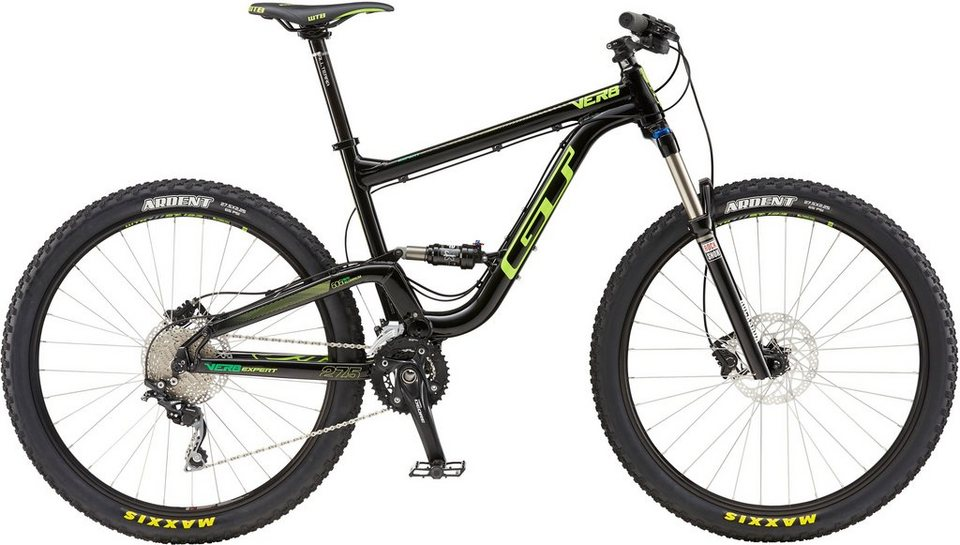 GT Fully Mountainbike, 27,5 Zoll, 20 Gang Shimano Deore Shadow Plus, Herren, »Verb Expert« in schwarz