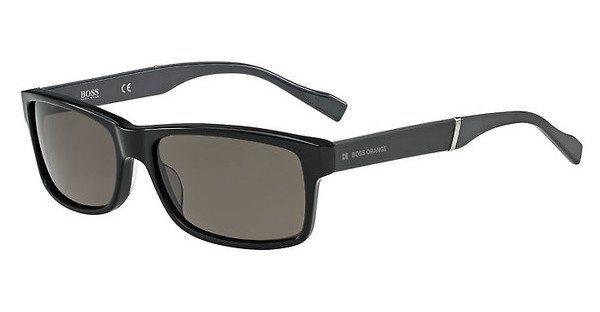 Boss Orange Herren Sonnenbrille » BO 0158/S« in 6RE/NR - schwarz/grau