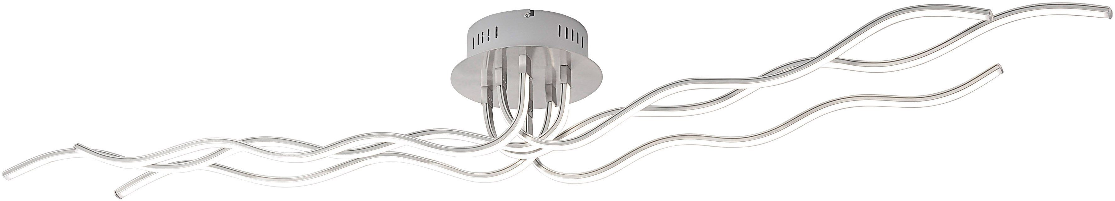 Leuchten Direkt , LED-Deckenleuchte, 6 flg., »WAVE«