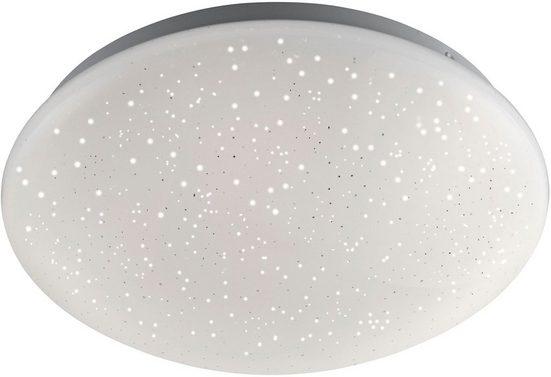 Leuchten Direkt Deckenleuchte »SKYLER«, LED, dimmbar, Ø 26 cm, Sternenhimmel-Optik, Farbwechsel RGB+W, mit Fernbedienung