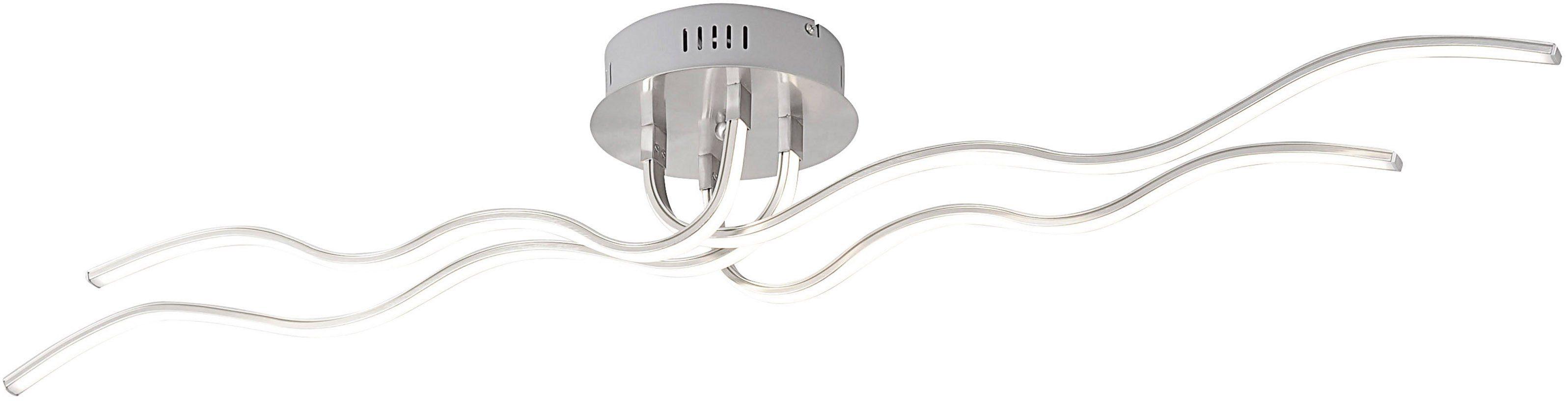 Leuchten Direkt LED-Deckenleuchte, 4 flg., »WAVE«
