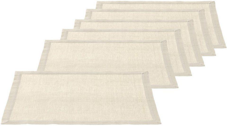 LEONARDO Platz-Set, beige in beige