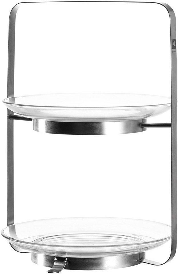 LEONARDO Etagere »Senso«, 2-teilig in silberfarben/transparent