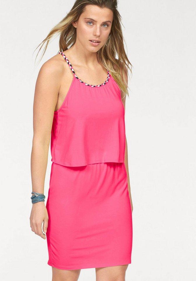 Bench Sommerkleid mit geflochtenen Trägern in pink