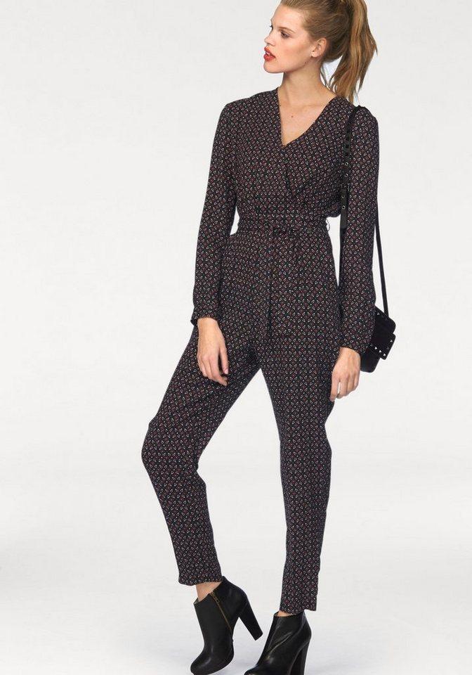 Pepe Jeans Overall »Aida« mit Falten im Taillenbereich in schwarz-bordeaux