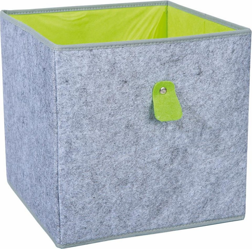 Filz-Boxen »Widdy« in grau/grün