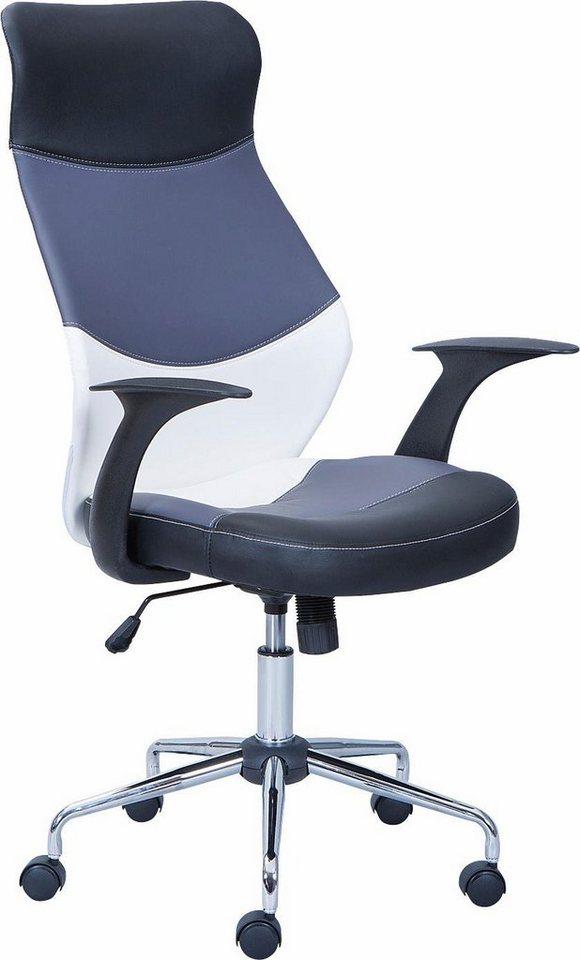 Bürostuhl »Livenza« in schwarz/grau-weiß