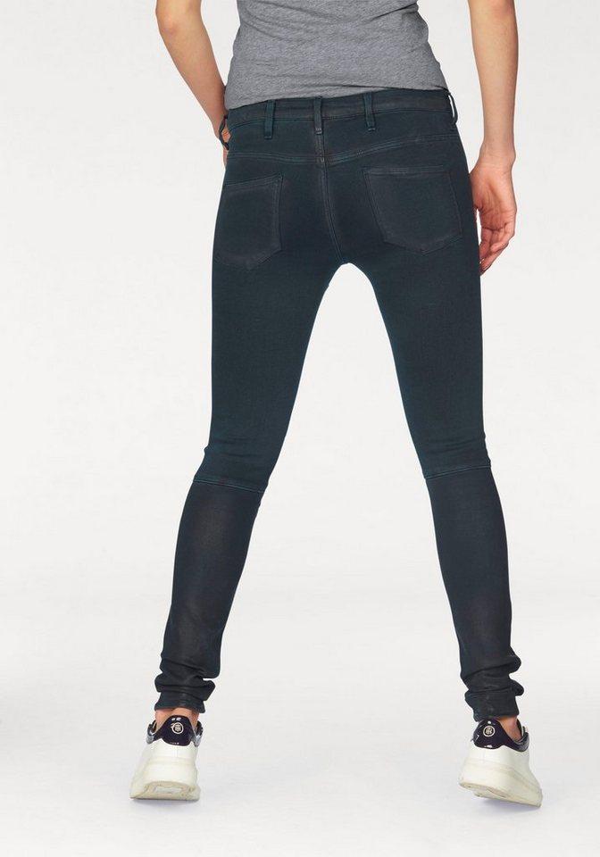 G-Star Skinny-fit-Jeans »5620 Custom Mid Skinny« im Overdyed- und Vintage Look in legion