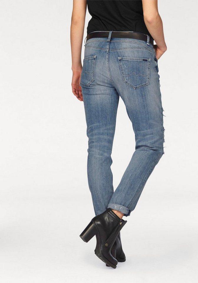 Pepe Jeans Destroyed-Jeans »ZIGGY« mit dezente Motivstickerei in light-blue