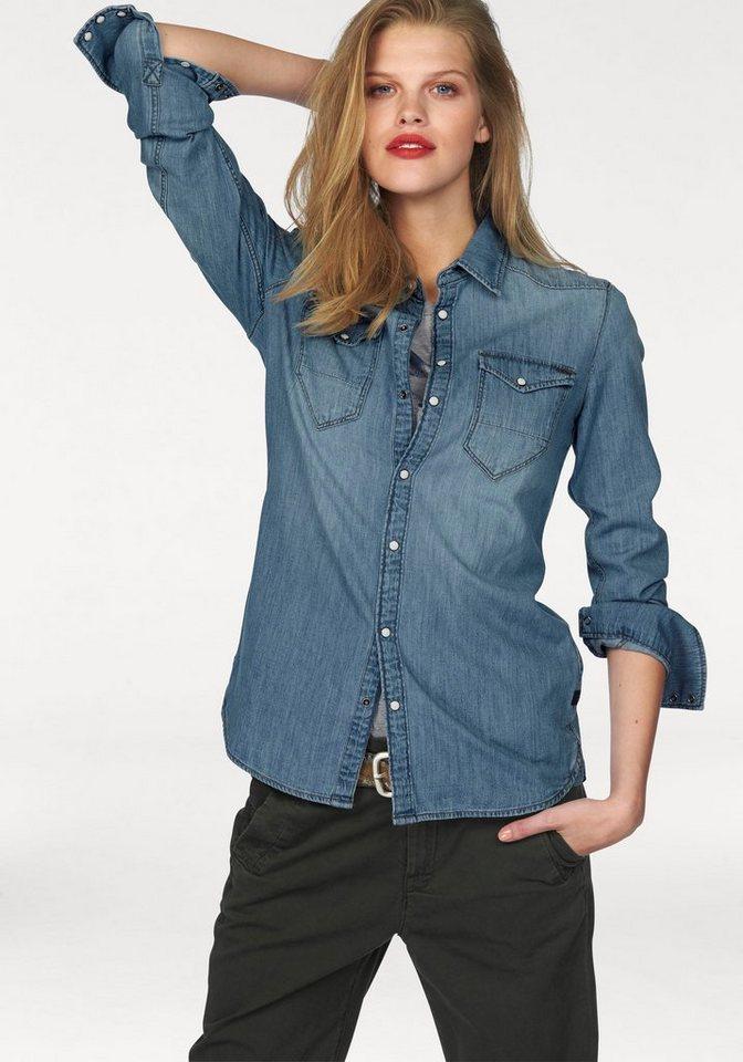 G-Star Jeansbluse »Tacoma straight« im Westernstil in blue-denim