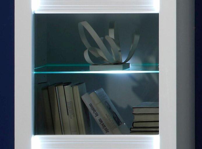 Glaskantenbeleuchtung in weiß