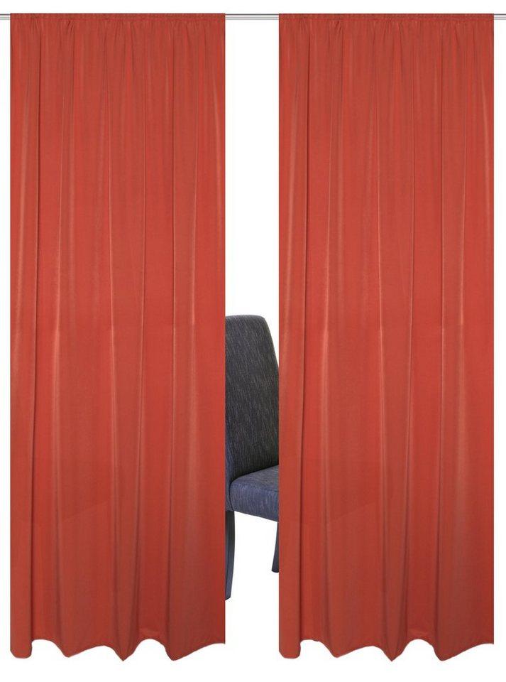 Vorhang, Home Wohnideen, »MURAU« (2 Stück) in terrakotta