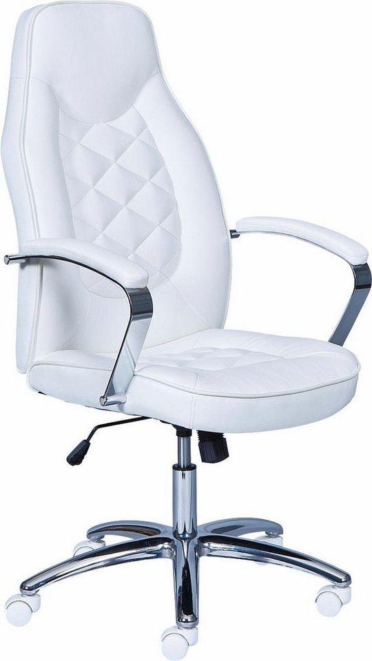 Bürostuhl »Brenta« in weiß/chrom