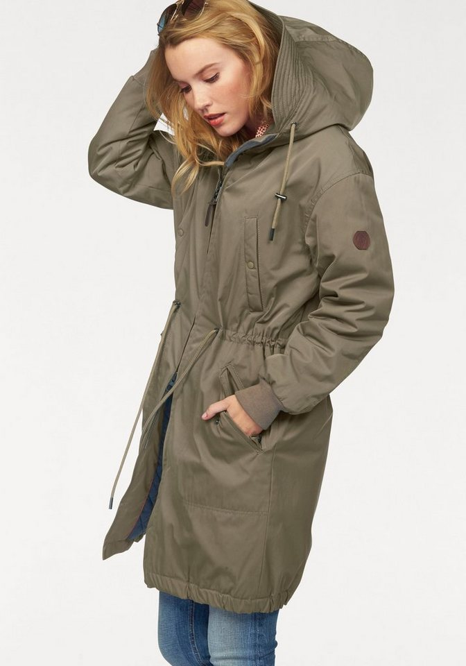 Marc O'Polo Parka in extra Longform in khaki