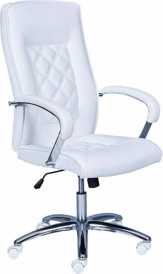 Bürostuhl »Alessia« in weiß/chrom