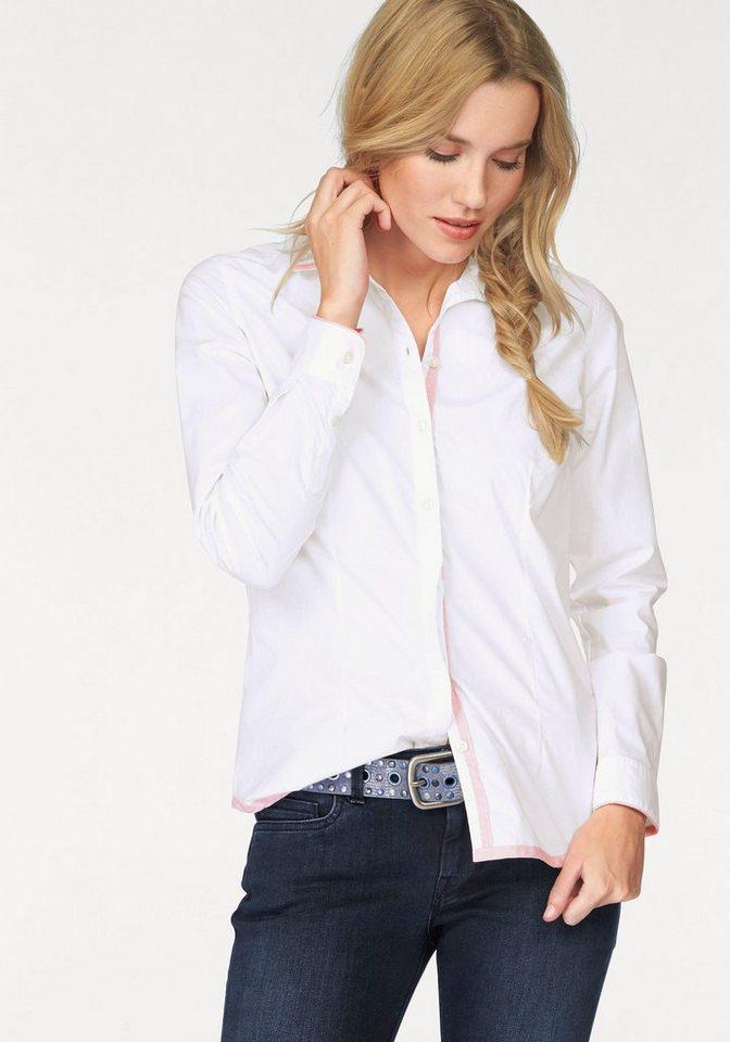 Napapijri Hemdbluse »Gretchen« mit tollem Rückenmotiv in weiß