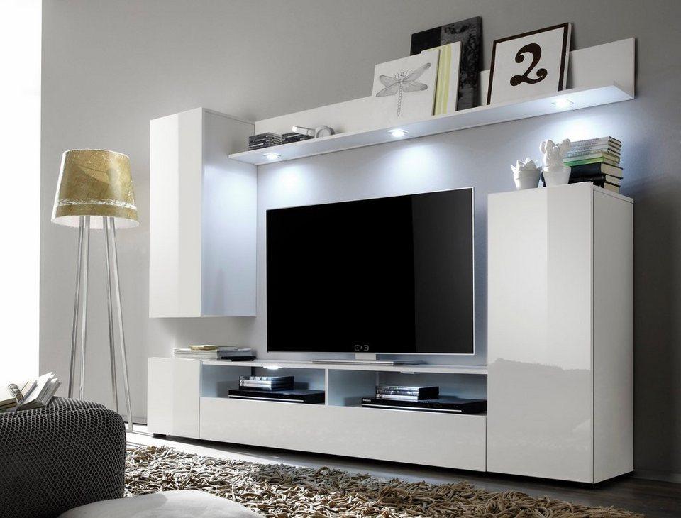 Wohnwand 4 tlg online kaufen otto for Hochwertige wohnwand