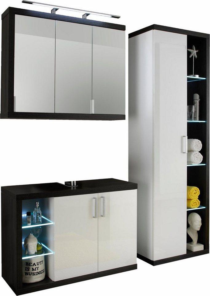 trendteam badm bel set sunrise 3 tlg mit 8 f chern online kaufen otto. Black Bedroom Furniture Sets. Home Design Ideas
