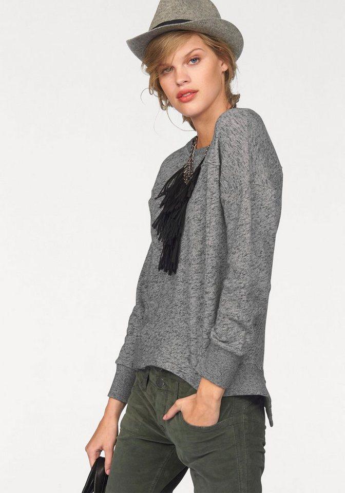 Herrlicher Sweatshirt »Fae« im Vokuhila Style in grau-meliert
