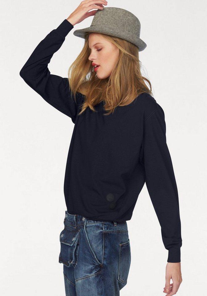G-Star Langarmshirt im Sweatshirt-Look in dunkelblau