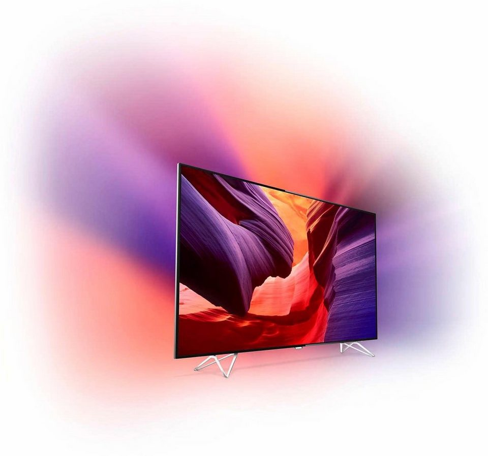 Philips AmbiLux 65PUS8901/12 LED Fernseher (164 cm (65 Zoll), 4K Ultra HD, Ambilight-Projection, Smart-TV) in silber-schwarz