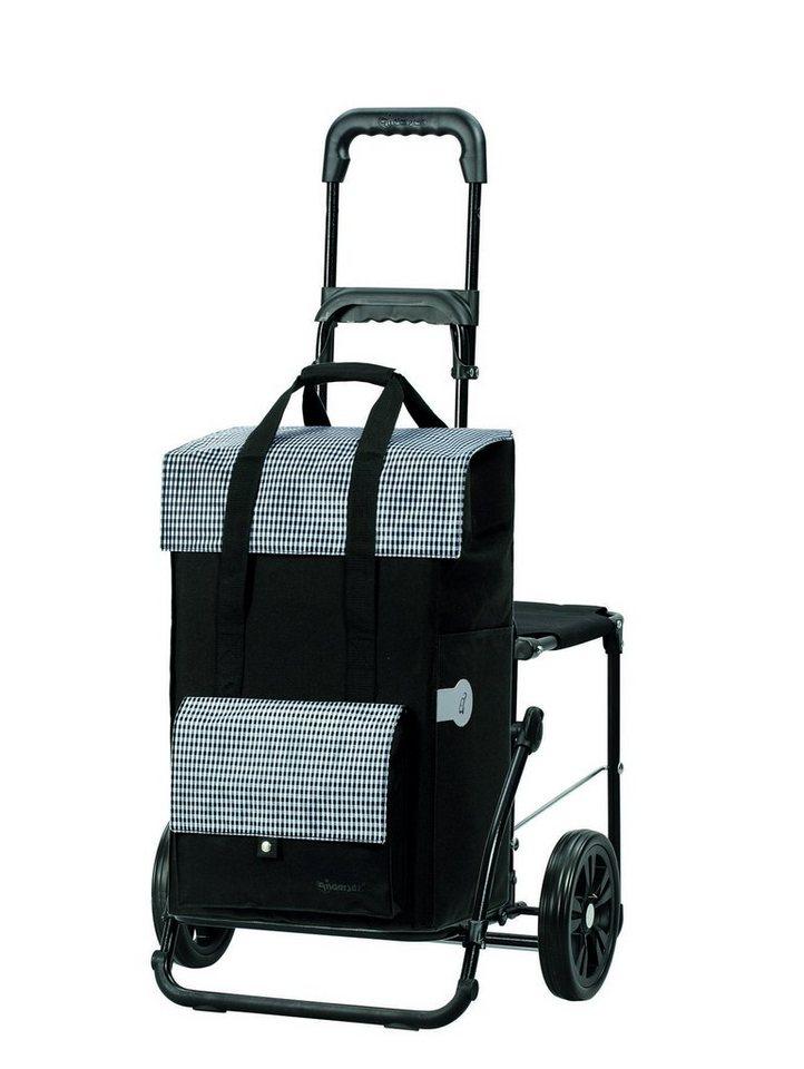 Andersen Einkaufstrolley »Komfort Shopper Milla« mit praktischen Reflektoren in schwarz
