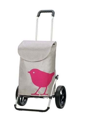 Damen Andersen Einkaufstrolley Royal Shopper® Bird mit Alu Fahrgestell rosa | 04055278023257