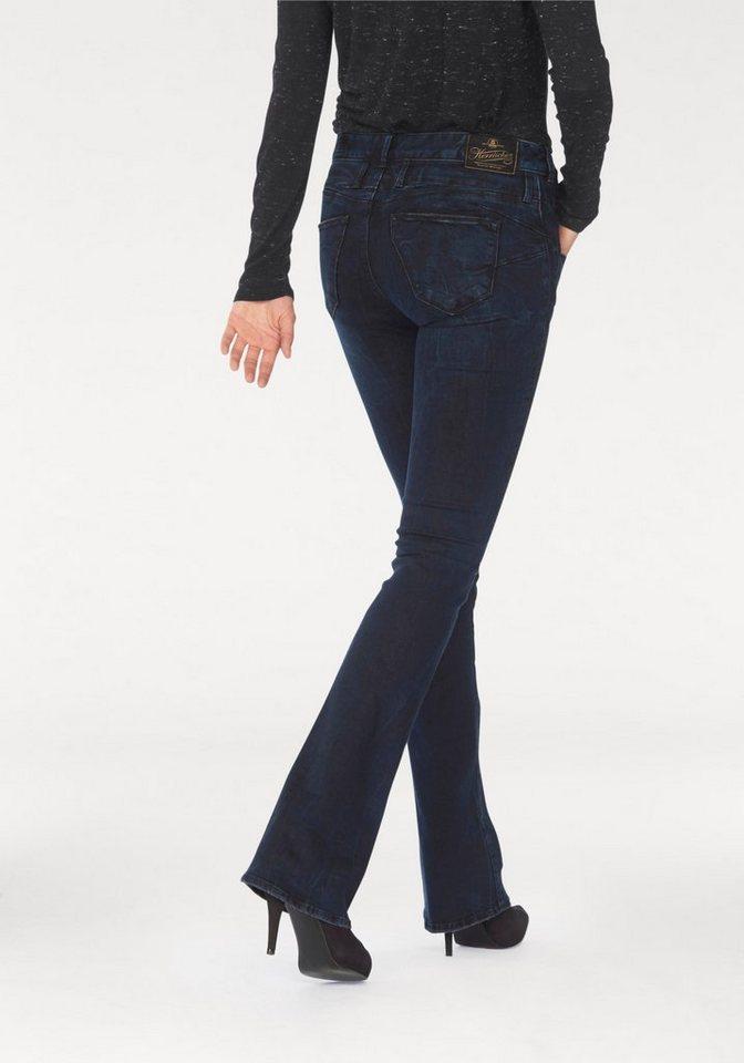 Herrlicher Bootcut-Jeans »Baby Boot« mit angesetztem Bund in ocean-floor